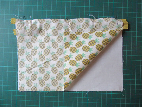 DIY Couture trousse ananas