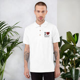 I Love Heart Ultrasound Research Embroidered Polo Shirt