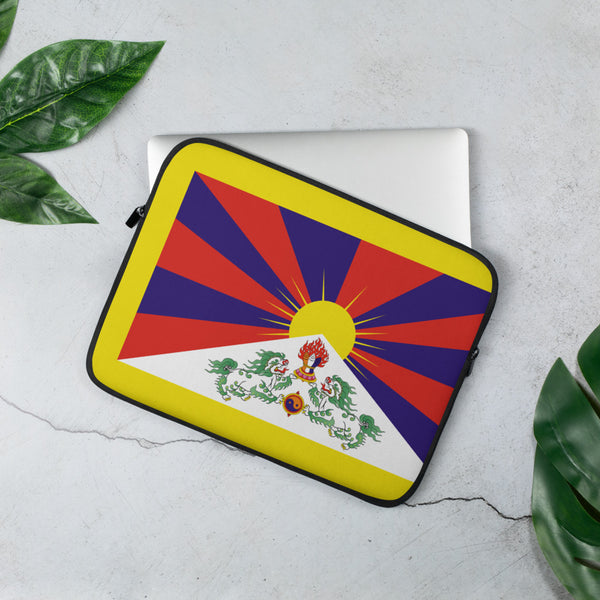 བོད་ 西藏 雪山獅子旗 Tibetan Snow Lion (New) Flag Laptop Sleeve
