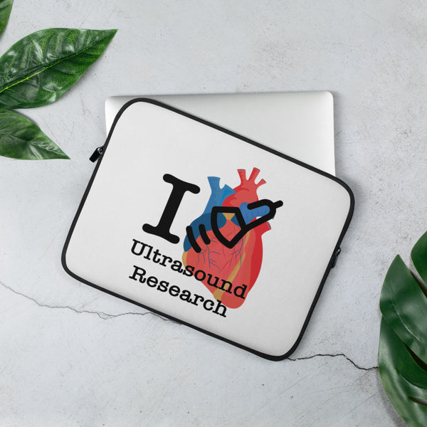 I Love Heart Ultrasound Research Laptop Sleeve