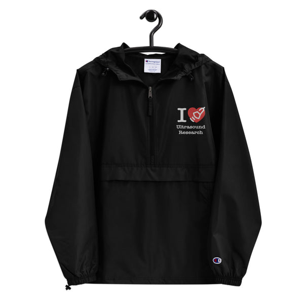 I Love Heart Ultrasound Imaging Research Embroidered Champion Packable Jacket