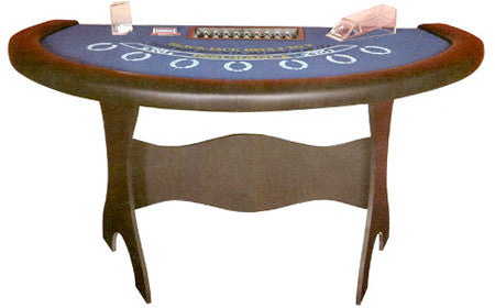 Blackjack Table with Collapsible Wooden Legs