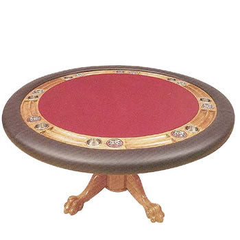 Stationary Round Poker Tables with Pedestal Bases