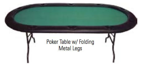 Folding Leg Poker Tables