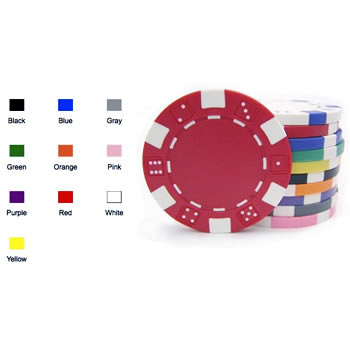 Poker Chips: Dice, 11.5 Gram / Heavy Weight, Red