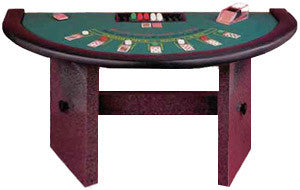 "Casino Style Blackjack Table with ""H Style"" or Formica Legs & Padded Rail"