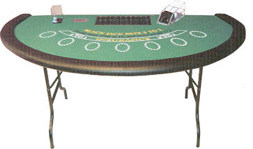 Blackjack Table with Folding Metal Legs