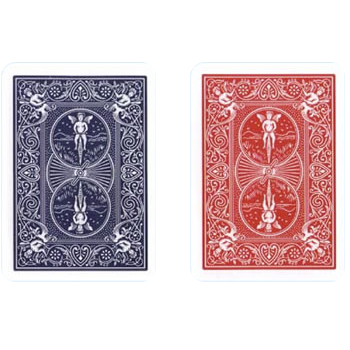 Bicycle Playing Cards, Poker, 1/2 Blue 1/2 Red - 2 deck set