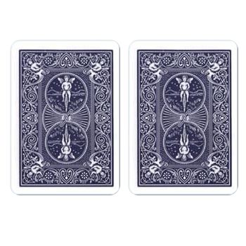 Bicycle Poker Playing Cards Regular Index, ALL Blue