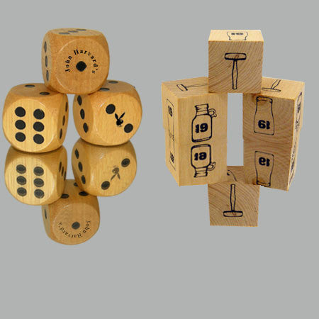 "1"" Custom Wooden Dice"