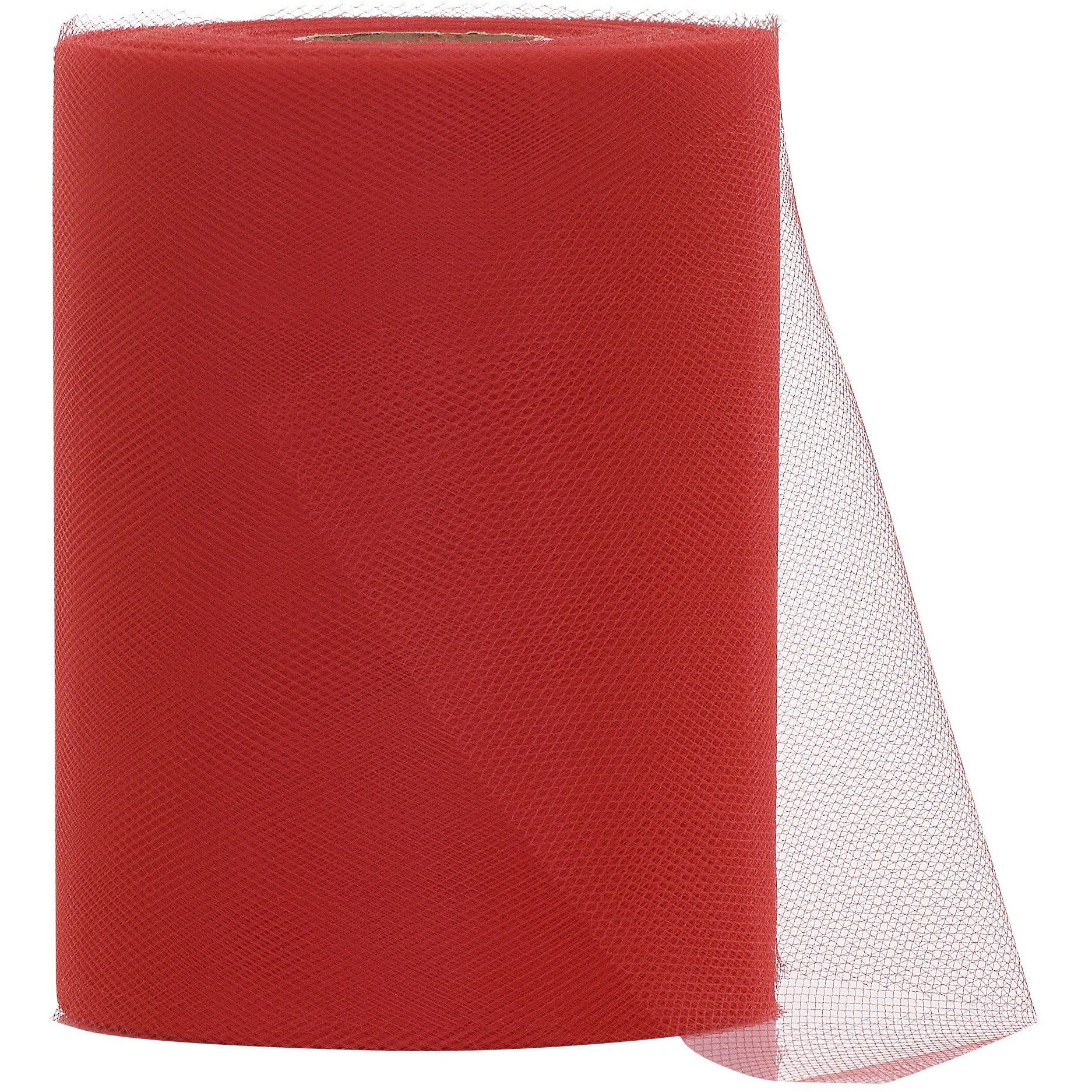 Red Tulle Fabric Roll - 100 Yards