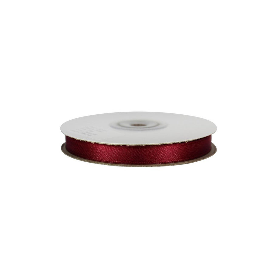 Burgundy - 10mm x 25m - Satin Ribbon - Double Sided