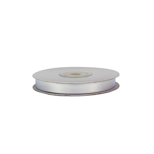 White - 10mm x 25m - Satin Ribbon - Double Sided