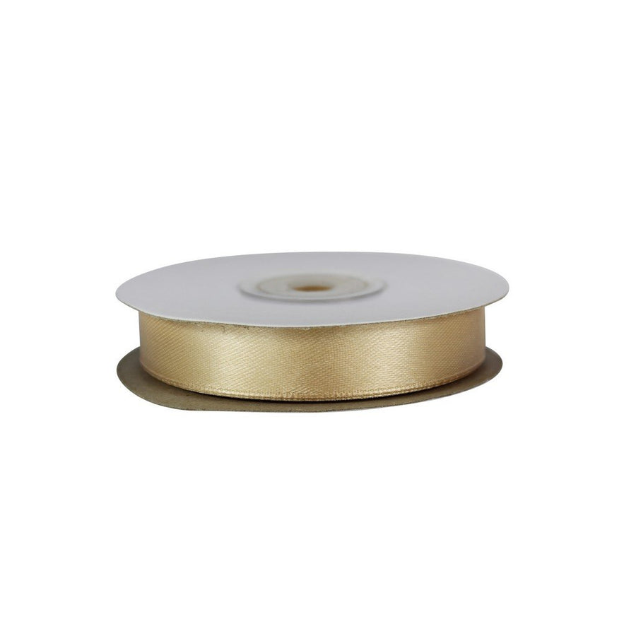 champagne Gold - 15mm x 25m - Satin Ribbon - Double Sided