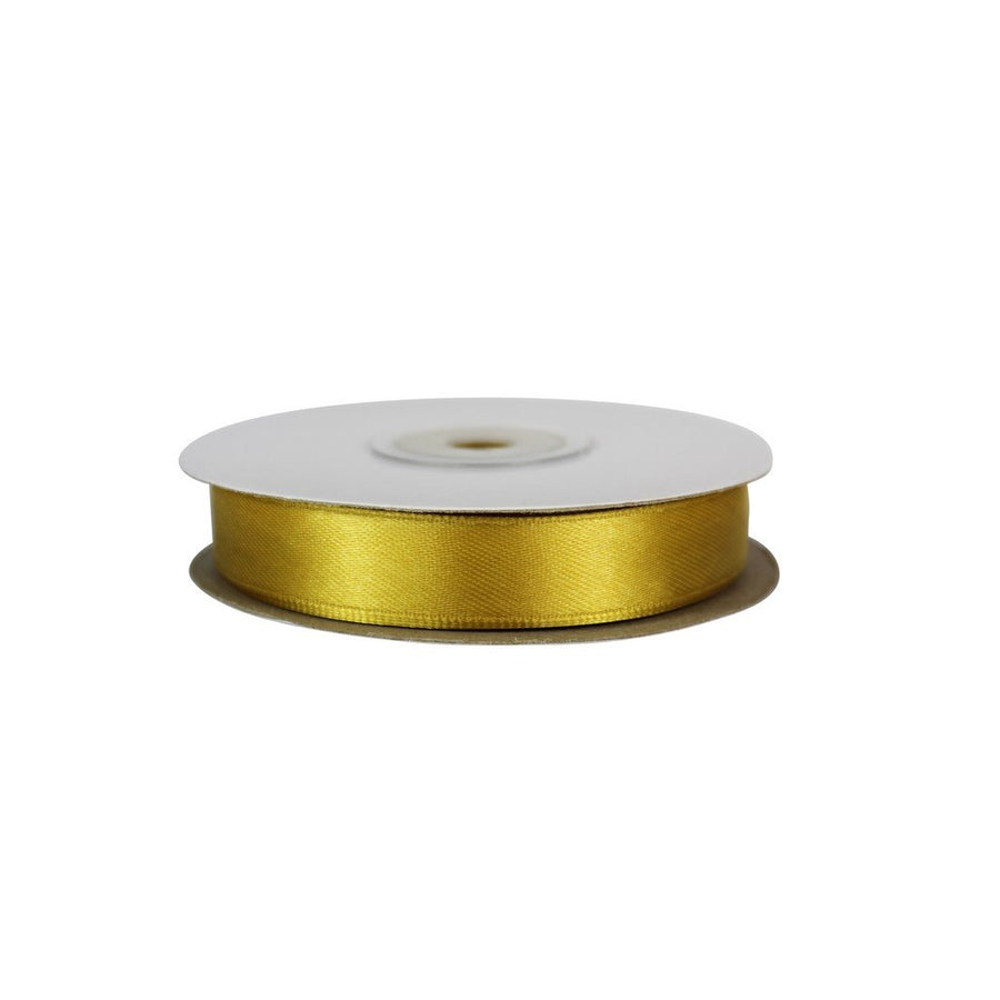 Gold - 15mm x 25m - Satin Ribbon - Double Sided