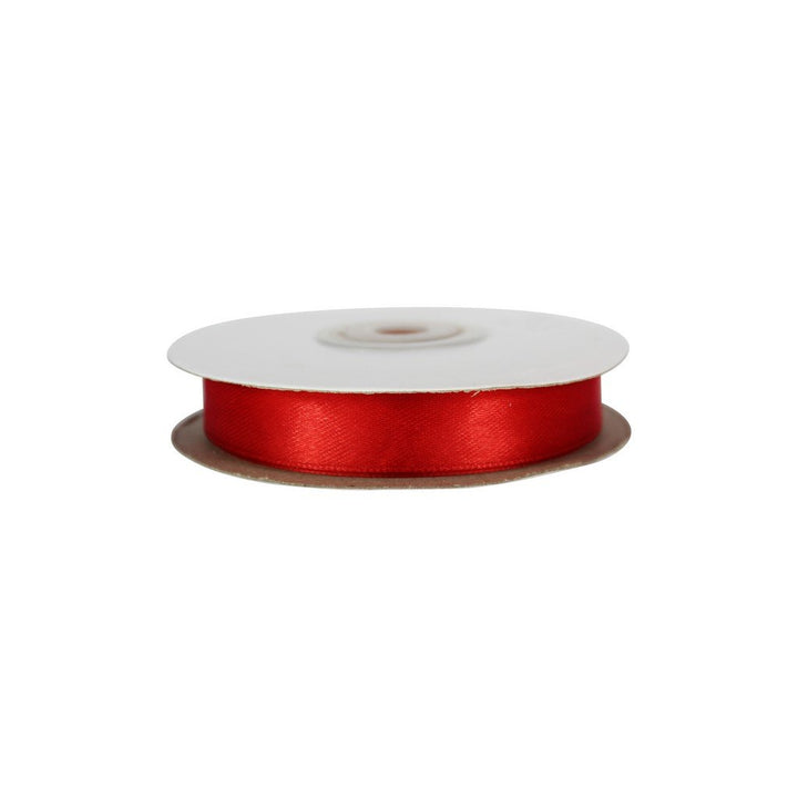 Red - 15mm x 25m - Satin Ribbon - Double Sided