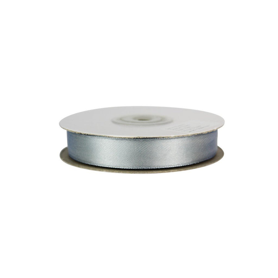 Silver - 15mm x 25m - Satin Ribbon - Double Sided
