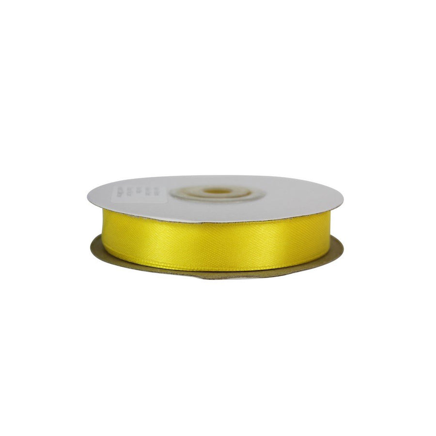 Yellow - 15mm x 25m - Satin Ribbon - Double Sided