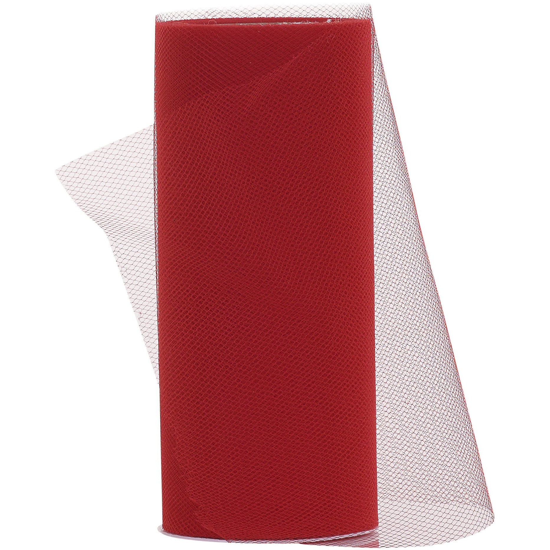 "Red - 6"" x 25 Yards - Tulle Fabric Roll"