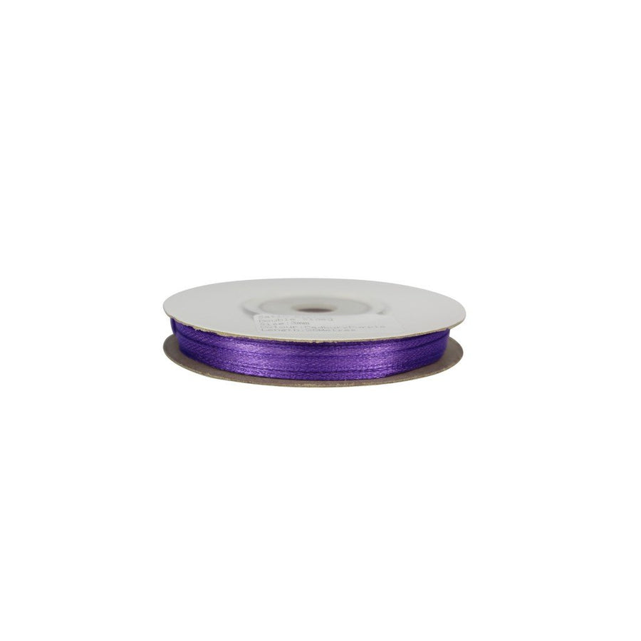 Cadbury Purple - 3mm x 25m - Satin Ribbon - Double Sided