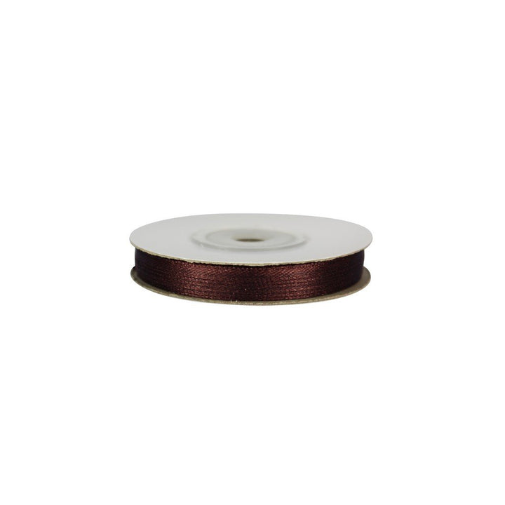 Chocolate Brown - 3mm x 25m - Satin Ribbon - Double Sided