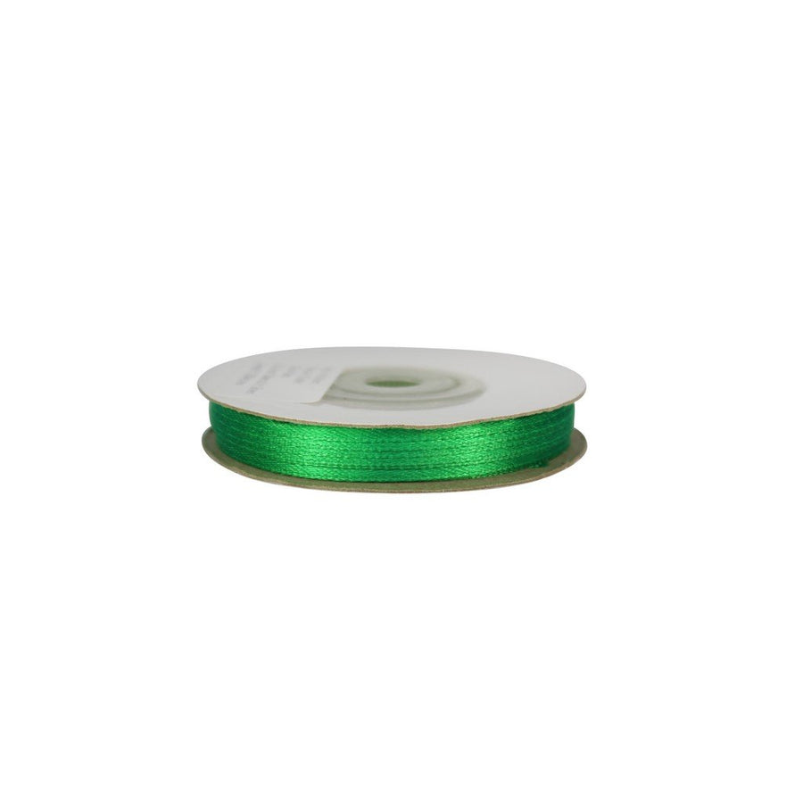 Emerlad Green - 3mm x 25m - Satin Ribbon - Double Sided
