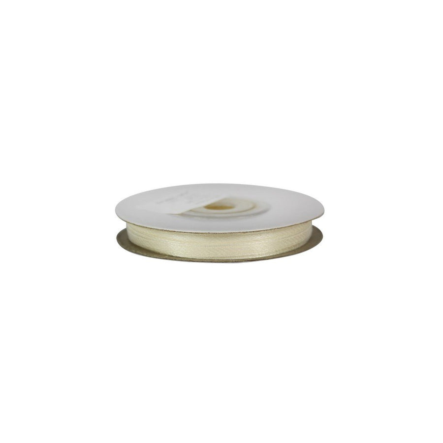 Ivory - 3mm x 25m - Satin Ribbon - Double Sided