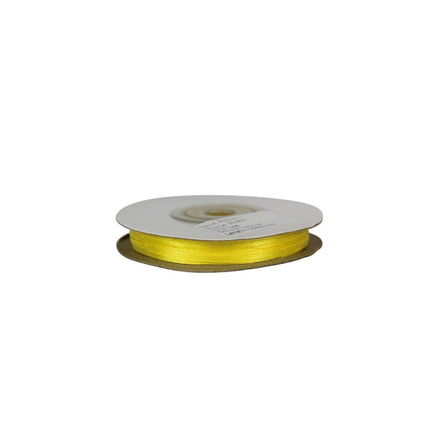 Yellow - 3mm x 25m - Satin Ribbon - Double Sided