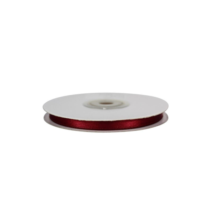 Burgundy - 6mm x 25m - Satin Ribbon - Double Sided