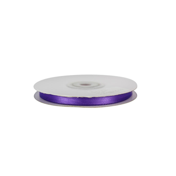 Cadbury Purple - 6mm x 25m - Satin Ribbon - Double Sided