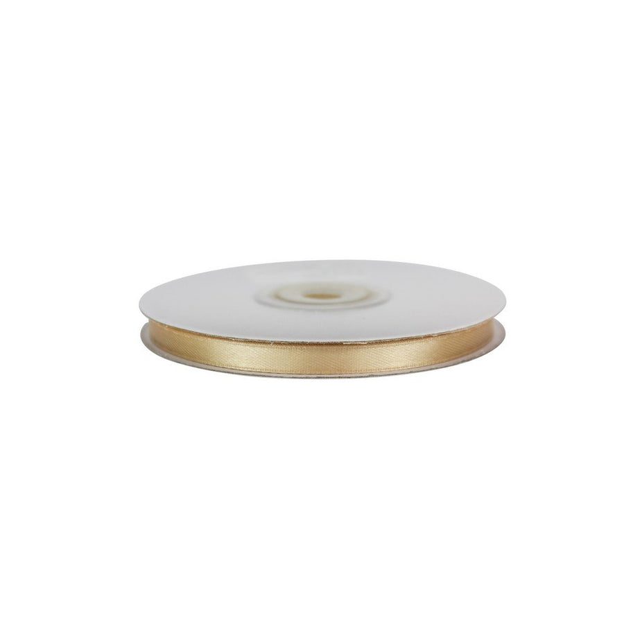 champagne Gold - 6mm x 25m - Satin Ribbon - Double Sided