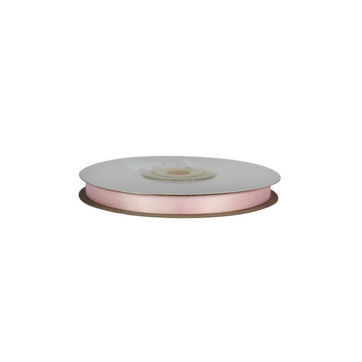 Pale Pink - 6mm x 25m - Satin Ribbon - Double Sided