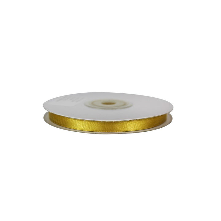 Gold - 6mm x 25m - Satin Ribbon - Double Sided