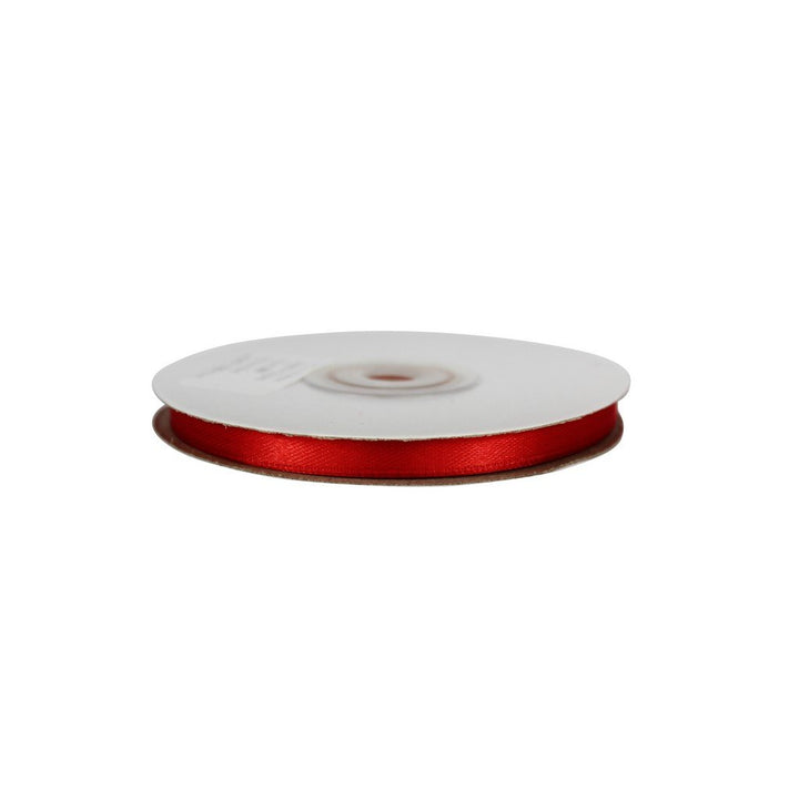 Red - 6mm x 25m - Satin Ribbon - Double Sided