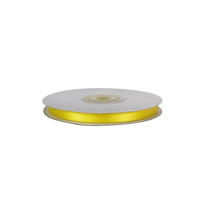 Yellow - 6mm x 25m - Satin Ribbon - Double Sided