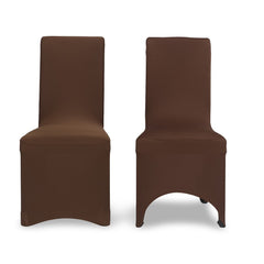 Chocolate Chair Cover Flat Fronted