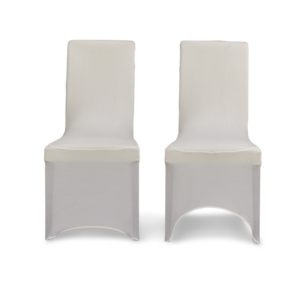 Ivory Lycra Chair Cover