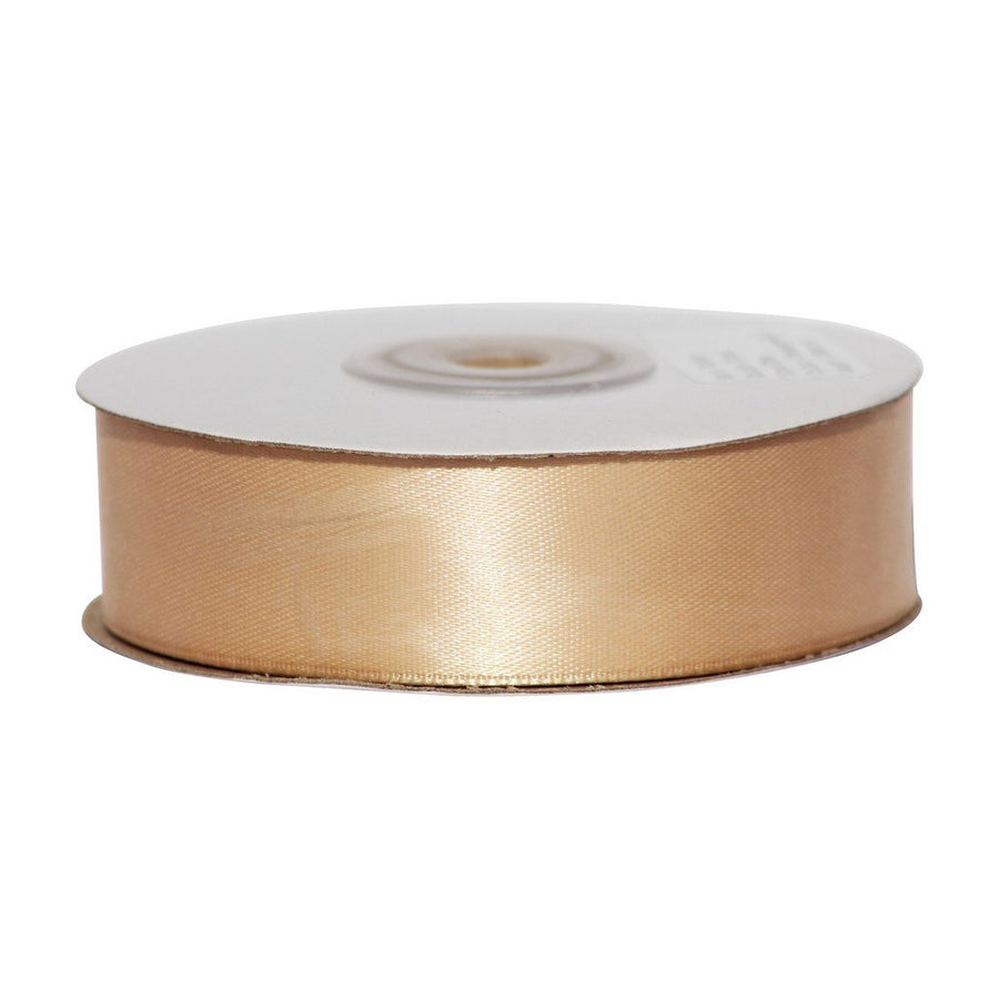 Chamapgne Gold - 25mm x 25m - Satin Ribbon - Double Sided