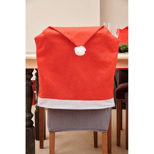 Christmas Santa Hat Chair Hood