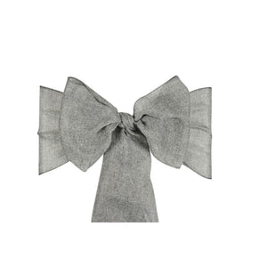 Linen Sashes 10pcs  - Grey