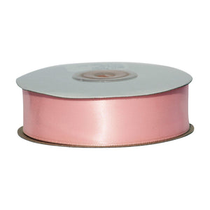 Dusky Pink - 25mm x 25m - Satin Ribbon - Double Sided