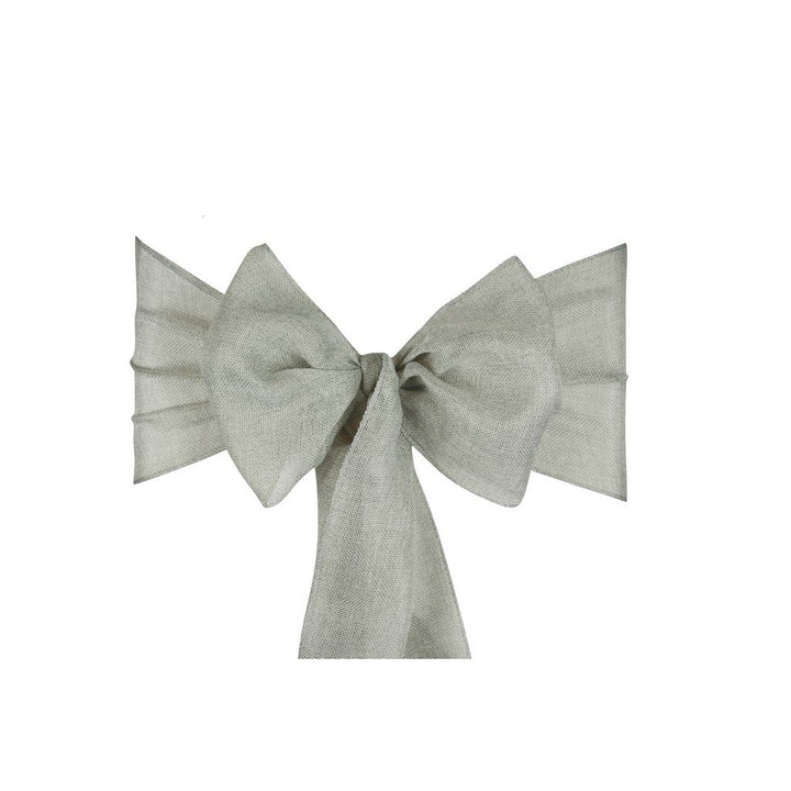 Linen Sashes 10pcs  - Silver