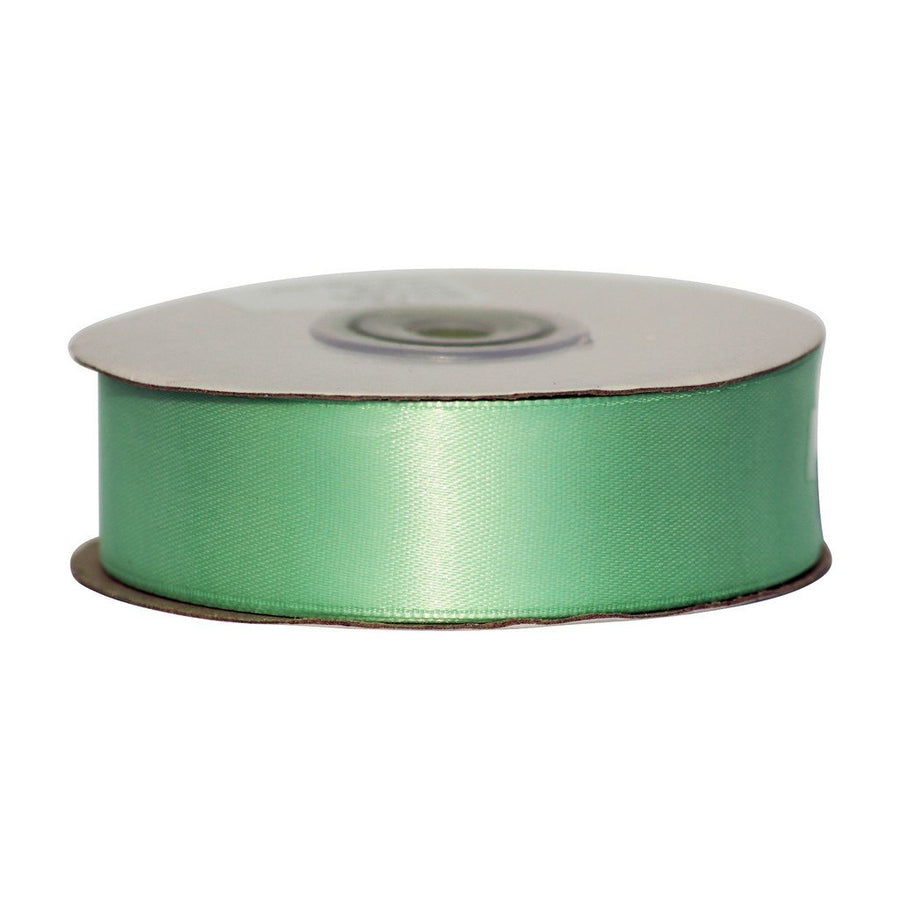 Mint Green - 25mm x 25m - Satin Ribbon - Double Sided