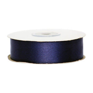 Navy Blue - 25mm x 25m - Satin Ribbon - Double Sided