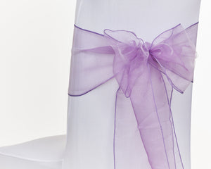 Lavender Organza Sash Chair Bow