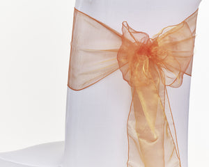 Orange Organza Sash Chair Bow