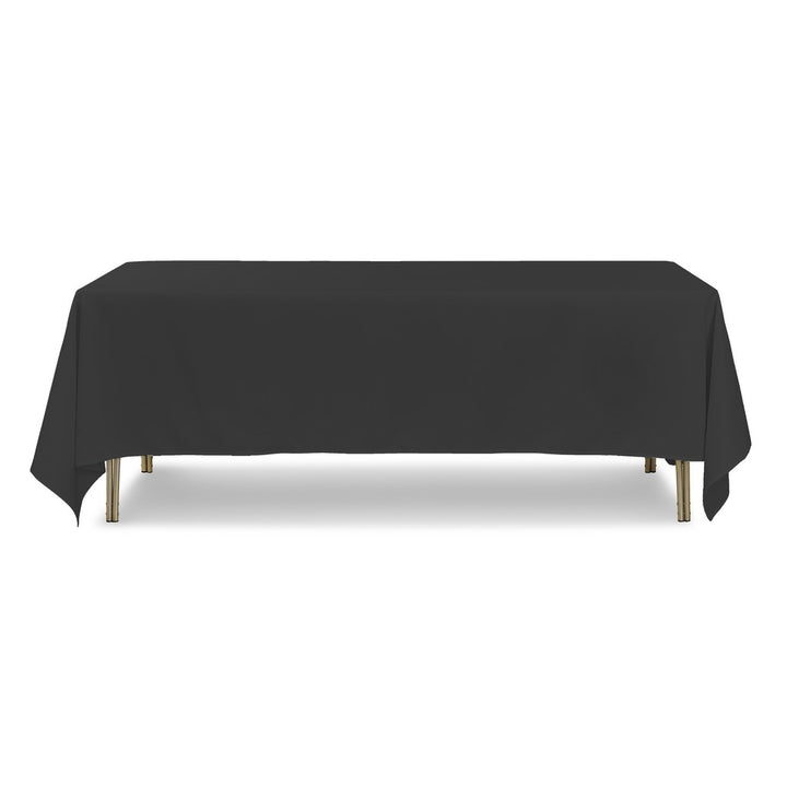 "Tablecloth - Rectangle - 70"" x 144"" - Black"