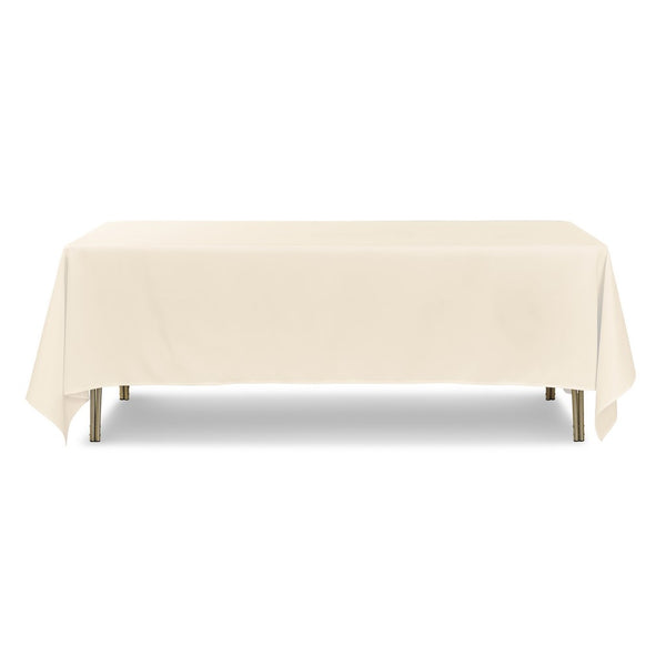 "Ivory Rectangle Polyester Tablecloth - 70"" x 108"""
