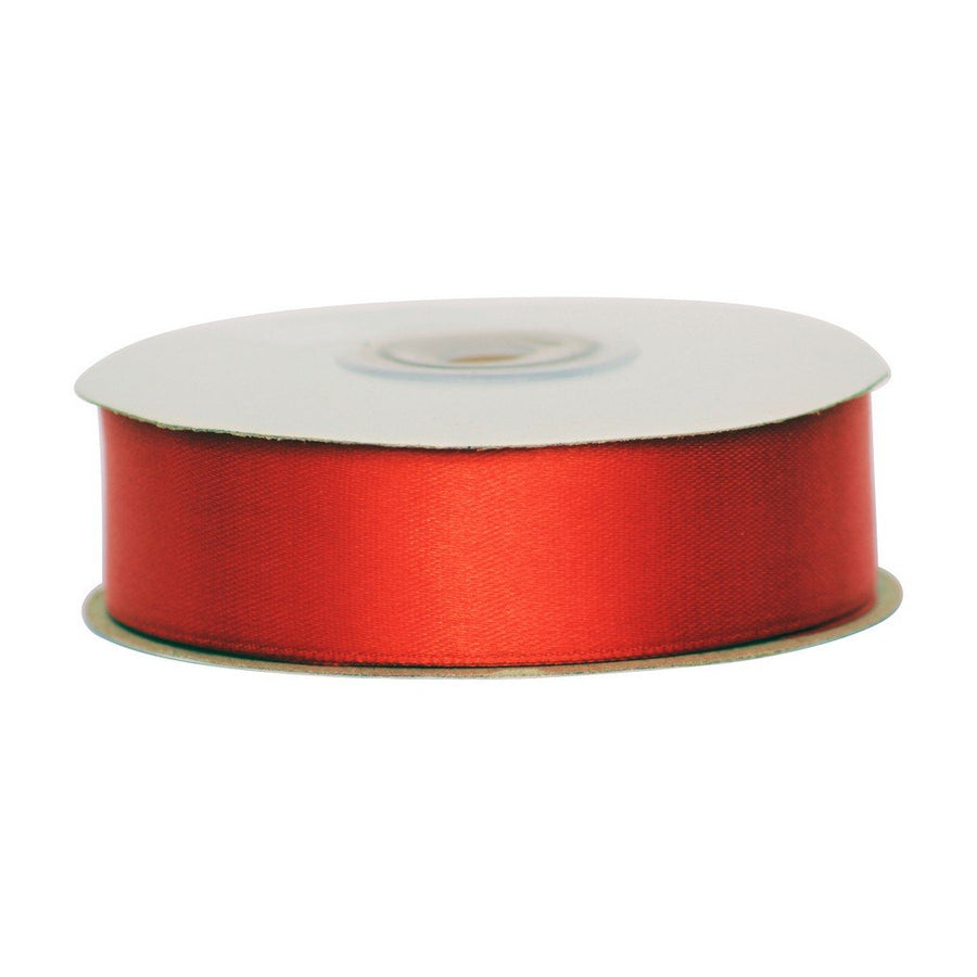 Red - 25mm x 25m - Satin Ribbon - Double Sided