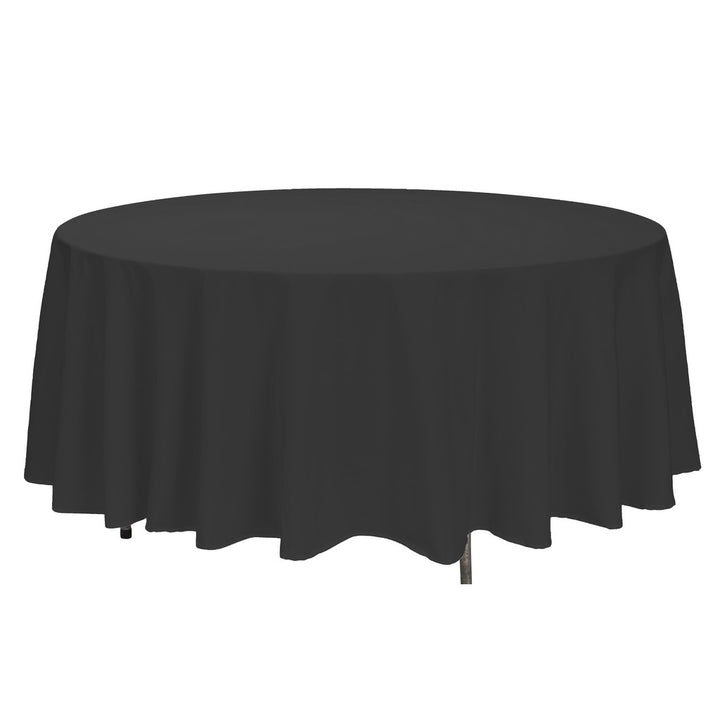 "Tablecloth - Round - 108"" - Black"